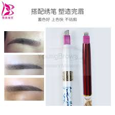 10 pieces soft tap 72 g extra fine straight tip tebori microblade needles brows permanent makeup microblading tattoo in tattoo needles from beauty