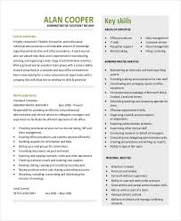 administrative assistant resume administrative assistant resume template free 10 executive templates