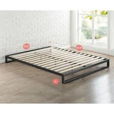 Low Profile Bed Frame King Modern Bedroom Size Without Spring Box ...