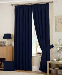 ... Fascinating Navy Blue Long Modern Fabric Blue Curtains Tied In Part  Design: Cool ...