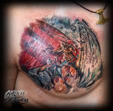татуировка викинги на драккаре