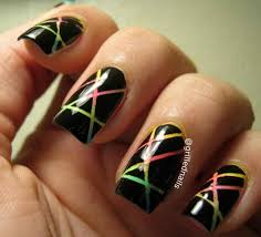 simple nail art with tape | rajawali.racing