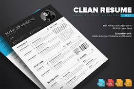 Resume Booklet Template Best of Clean ResumeCV Resume Templates Creative Market