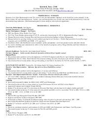 Resume For Sales Representative Cool Kristin Bass S Atlanta GA Resume 4820148