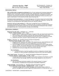 Pmp Certified Project Manager Resume The Letter Sample