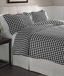 love this black white milton cotton flannel duvet set