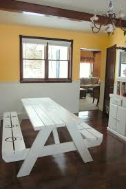 Indoor Picnic Style Dining Table Stylish Design Picnic Dining Table Pretty Looking Embrace The