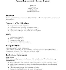 Sales Accountant Sample Resume Interesting Account Manager Resume Template Patient Account Representative