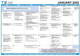 tv calendar january 2020 premiere