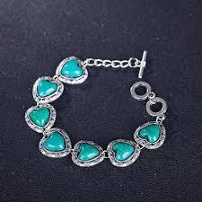 images gallery rakel new styles heart blue stone jewelry set