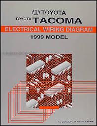 1999 toyota tacoma pickup wiring diagram manual original
