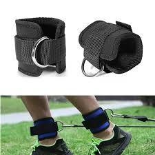1 para widerstand band d ring ankle straps workouts mit durable manschetten für ab bein glute Übungen home gym fitness ausrüstung