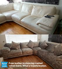 recover your sofa from leather to fabric stunning transformation rh rescotupholstery co uk can you recover leather furniture with fabric how to recover a