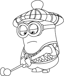 Small Picture Despicable Me Golfer Minions Coloring Page Wecoloringpage