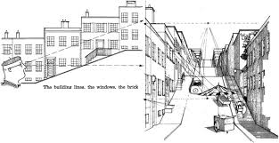 perspective drawings of buildings. Delighful Buildings Draw Buildings Below The Vanishing Inside Perspective Drawings Of