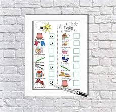 Kids Routine Chart Pen Board Morning And Evening Routine Dry Wipe Morning And Evening Checklist Autism Adhd Dyslexia Visual Aids Daily Routine