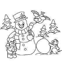 Kerst Sneeuwpop Kleurplaten Animaatjesnl