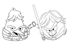 Small Picture Angry Birds Star Wars Han Solo and Luke Skywalker Coloring Pages