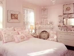 pink shabby chic bedroom decoration