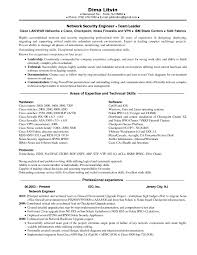 Resume For Network Engineer With Ccna Free For Download Cisco