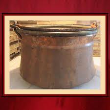 vintage copper wood holderview