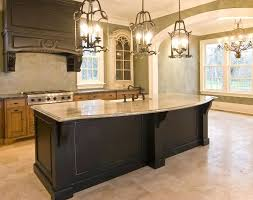 light wood kitchen island custom wood kitchen island with granite slab counter recessed wood beam 5