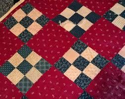 Antique quilt | Etsy & Vintage Antique Quilt patchwork // Antique Quilt /// Vintage Bedding /// Adamdwight.com