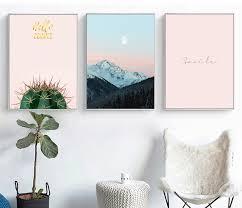 <b>Cactus Canvas</b> Poster Nordic Print Minimalist Motivation Quotes ...