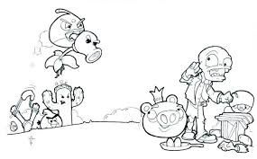 Plants Vs Zombies Coloring Pages Cherry Bomb Chomper 2 Peashooters