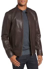 image of ted baker london mate leather biker jacket