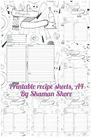 Card Template For Pages Blank Recipe Cards Fun Printable Templates