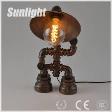 industrial pipe lighting. Steampunk Lamp Robot Water Pipe Lighting Table Edison Bulb For Bar/cafe/restaurant Led Industrial - Buy Lamp,Robot I