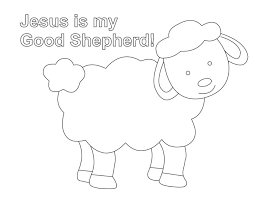 Small Picture Shepherd And Sheep Coloring Page Lesson Five The Good Shepherd