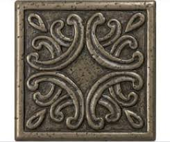 lowes bronze metal square accent tile 4x4