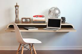 computer furniture design. Minimal-wall-desk-walnut Computer Furniture Design Homedit