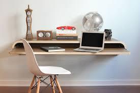 minimal wall desk walnut