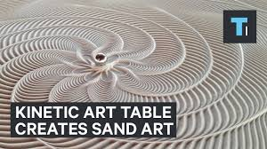 Yanko Design Sisyphus Table That Creates Sand Art With Marble That Rolls By Itself