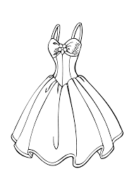 wedding dress coloring page for s printable free