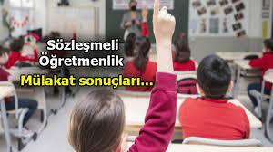 Sözleşmeli öğretmenlik mülakat sonuçları 2021 ne zaman açıklanacak? Sözleşmeli  öğretmen ataması ne zaman, hangi tarihte yapılacak? - Son Dakika Haberler  Milliyet