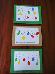 Christmas Card Ideas With Lights Homemade Cards Using Fingerprints Lights Christmas