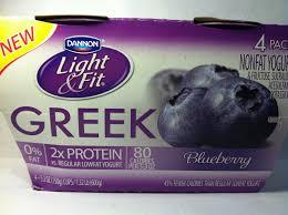Dannon Light And Fit Greek Yogurt Blueberry Nutrition Crazy Food Dude Review Dannon Light Fit Blueberry Greek