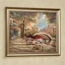 riverwalk charm wall art multi warm on brown framed wall art with riverwalk charm framed wall art picture