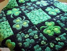 Green Quilts, Projects and Patterns: Your Lucky Day! | Green quilt ... & Green Quilts, Projects and Patterns: Your Lucky Day! | Green quilt, Saints  and Patterns Adamdwight.com