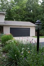 painted black garage door