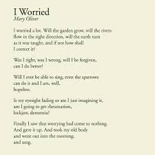 Poem I Worried Mary Oliver Poetry Love Pinterest Mary Magnificent Mary Oliver Love Quotes