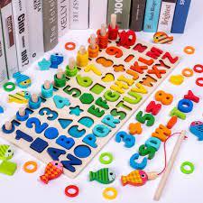 Tháp học đếm số, hình khối và chữ cái. Đồ chơi trẻ em thông minh.