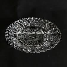 recycled glass dinner plates whole clear glass plates