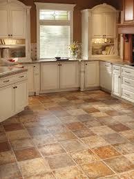 Kitchen, Wonderful Kitchen Floor Lino Rubber Bathroom Flooring Brown Square  Ceramics Kitchen Floor With White ...