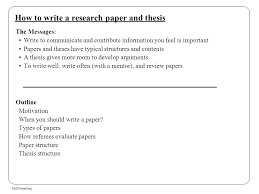 how to write a research paper and thesis ppt how to write a research paper and thesis