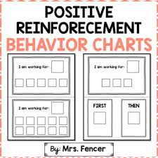 Positive Reinforcement Behavior Charts Worksheets Teaching